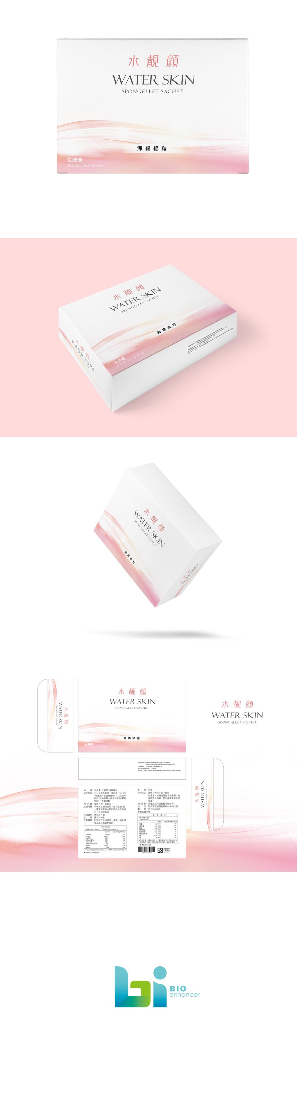 美佳胜肽科技-生激優水靓顏 包裝設計